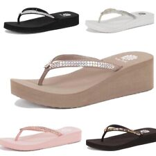8f1adcbd7 Yellow Box Jello Custard Black Pink Brown White Rhinestone Flip Flops  Sandals