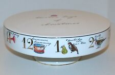 Better Homes & Gardens 12 Days of Christmas Pedestal Cake Stand Porcelain 12""