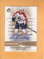 2013 14 SP GAME USED GOLD AUTO #131 QUINTON HOWDEN FLORIDA PANTHERS