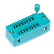 2 Pcs Zif 16 Pin 16 Pins Test Universal Ic Socket 16 Pin Dip New L