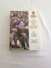OFFICIAL RUGBY FOOTBALL UNION CLUB DIRECTORY 2001 - 2002