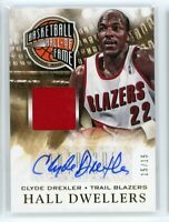 2013-14 Clyde Drexler 15/15 Auto Jersey Panini Intrigue Hall Dwellers Autographs