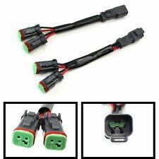 2pcs Y-Shape Deutsch DT DTP Dual-Output Fog Lights Adapters Connectors Splitters