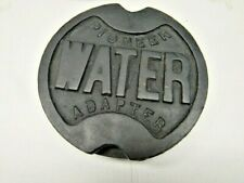 """Vintage """"Pioneer Water Adapter"""" Cast Iron Water Line Valve Cover Cap"""