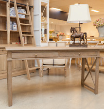Yves Grey Wash Extension Desk 1.5-2.1M French Provincial Hamptons American Oak