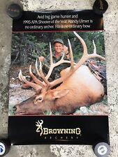 Vintage 1995 Browning Archery Big Game Hunting Poster Randy Ulmer Apa Shooter