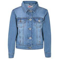 Enfants Filles Bleu Clair Vestes Jean Jeans Créateur Veste Élégant Mode Manteaux