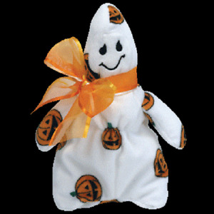 """TY Beanie Baby GHOULISH the HALLOWEEN GHOST 7""""...NEW"""