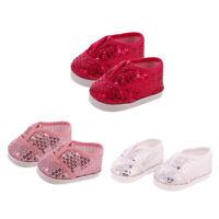 3 paires de paillettes Chaussures pour 18 pouces AG American Doll Our