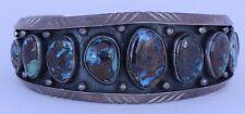 Sterling & Top grade Bisbee Native American Navajo cuff bracelet Alex Becenti