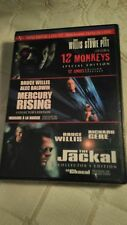 12 Monkeys / Mercury Rising / The Jackal (DVD, 2008, 3-Disc Set, Canadian) NEW