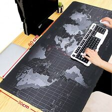 Extended Gaming Mouse Pad,Large Size 31.5 x 11.8 inches (World Map Edge)