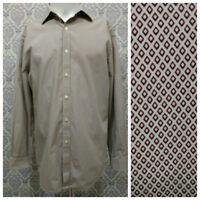 Michael Michael Kors Mens Button Front Dress Shirt Size 15.5 32/33 Cotton