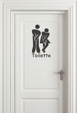 Wandtattoo Toilette Türaufkleber Sticker Klo Wandaufkleber 19cm x 10cm  WA-001