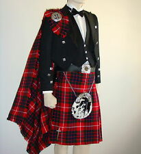 21 Pcs | scozzese PRINCE CHARLIE Giacca & Kilt OUTFIT Ultimate Set | Geoffrey