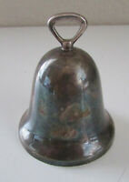 Vintage Reed & Barton Silver Plated 1995 Christmas Tree Ornament Bell w/Clapper