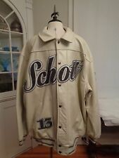 SCHOTT 100% genuine leather varsity jacket embroidered men's size 4XL