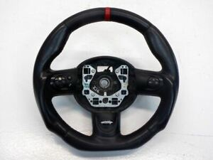 Mini Cooper Flat Bottom Steering Wheel Red Stitching, Leather 07-15 R5x