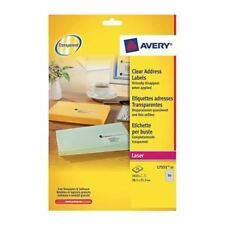 Avery Clear Mini Label 38x21mm Pack 1625
