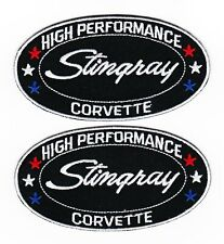 CHEVY CORVETTE STINGRAY SEW/IRON ON PATCH EMBLEM BADGE EMBROIDERED 454 V8