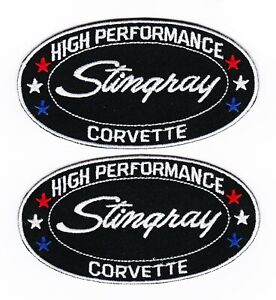 CHEVY CORVETTE STINGRAY SEW/IRON ON PATCH EMBLEM BADGE EMBROIDERED