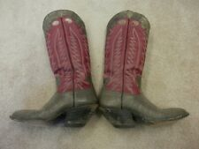 Pre-owned Pair of Wilson Hand Made Lizard Skin Western Boots Size 8 1/2 D
