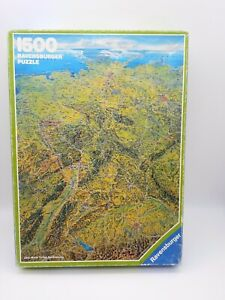 1500 Pieces Puzzle - Panoramic Map Germany - Ravensburger 100% Complete