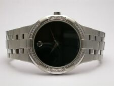 MOVADO 605984  METIO STAINLESS STEEL DIAMOND-SET BEZEL AUTOMATIC MENS WATCH