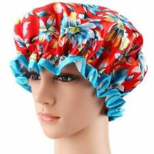 NWT Shower Cap, ESARORA Bath Cap Designed for Women Waterproof Double Layer