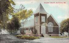 Rockland Maine Peoples Church Street View Antique Postcard K26827