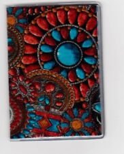 Southwest Jewelry Slim Wallet Gift Card Case or holder: Credit Bus Subway Metro