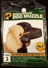 Proguard Pets.com Sure-Fit Dog Muzzle Stops Biting Barking Chewing Size 3