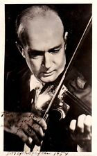 JOSEPH SZIGETI. Violinist autographed photo playing, 1954 to his Manager's wife