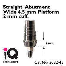Straight Abutment 2 mm Shoulder wide 4.5mm platform Dental Implants Prosthetics
