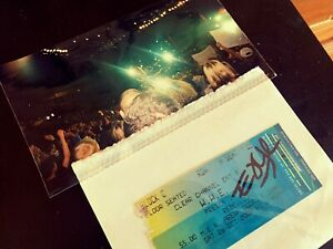 Signed Edge WWE / WWF Rebellion 2002 Ticket Stub With Picture