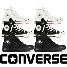 Converse Unisex Chuck Taylor All Star Hi Top Black Lace Up Canvas Trainers Shoes