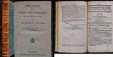 K/ RECUEIL DES ACTES ADMINISTRATIFS DÉPARTEMENT DE L'OISE 1822 Restauration