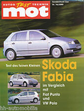 Sonderdruck mot 14 00 Test 2000 Škoda Skoda Fabia Fiat Punto VW Polo Auto PKWs