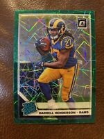 🔥🔥2019 OPTIC DARRELL HENDERSON Green Velocity PRIZM Rated Rookie #160 LA Rams