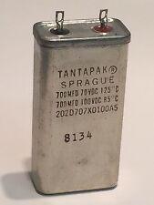 SPRAGUE tantapak tantale condensateur 700uf 100v 202D707X0100A5 mil spec fd4g3