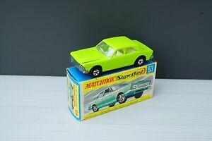 Matchbox Lesney No 53 Ford Zodiac Lime NM plus Original Box