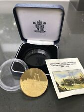 """More details for rare boxed medallion """"the centenary of the manchester ship canal"""" (1894-1994)"""