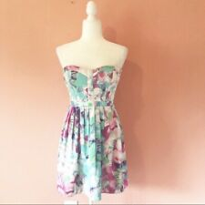 Parker Monet Silk Lily Strapless Dress Size Small MSRP $242