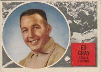 1960 TOPPS CFL ED GRAY EDMONTON ESKIMOS #14 (OKLAHOMA SOONERS) BIG 12