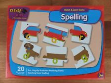 Clever Kids Match & Learn Game SPELLING Ages 3+ Preschooler Educational Puzzle