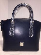 NWT*Dooney & Bourke*Navy Blue* FLORENTINE NUOVO DOMED SATCHEL*17041J