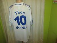 FC Schalke 04 Adidas Meister der Herzen Spieler Trikot 00/01 + Nr.10 Thon Gr.XL