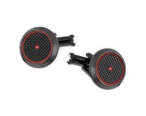 MONTBLANC TIMEWALKER HORLOGERIE ST. STEEL BLACK RED CUFFLINKS NEW NO BOX 118605