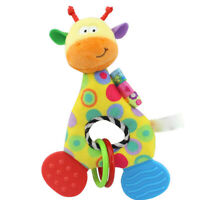 Newborn Infant Baby Soft Plush Toy Lovely Teether Rattle Teething Toy Giraffe US