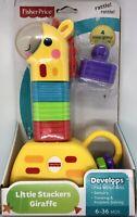 Fisher-Price Little Stackers Giraffe Toy Set Develops Motor Skills Sensory